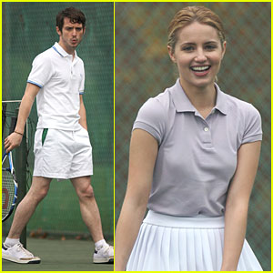 Elijah Wood & Dianna Agron: Tennis Team