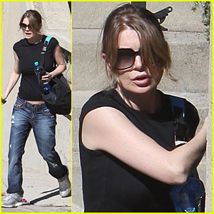 Ellen Pompeo Shows Her Post-Baby Belly