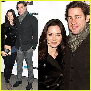 Emily Blunt & John Krasinski Are Red Shoes Sweethearts