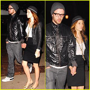 Justin Timberlake & Jessica Biel Hit Jay-Z Concert