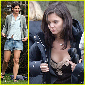 Katie Holmes Shows Off a Romantic Nightie