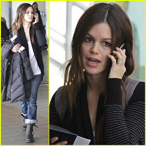 Rachel Bilson Loads Her Luggage