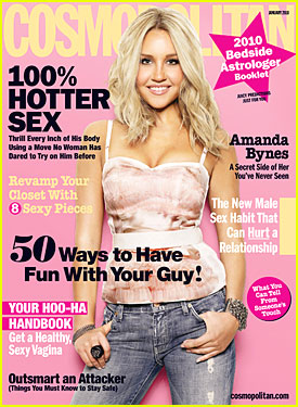 Amanda Bynes Covers 'Cosmopolitan' January 2010