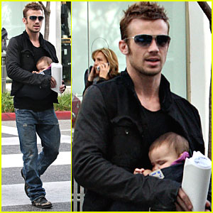 Cam Gigandet Carries Sleepy Everleigh