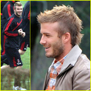David Beckham is a Milan Mohawk Man