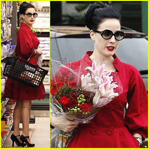 Dita Von Teese Brings Glamour to Grocery Shopping