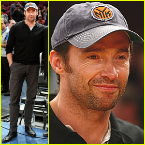 Hugh Jackman is Cheering Courtside