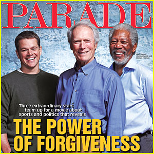 Matt Damon, Morgan Freeman & Clint Eastwood Cover 'Parade'