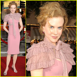 Nicole Kidman Gets Ruffled Up For 'Nine'