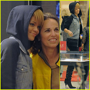 Rihanna Shops Saks Fifth Avenue