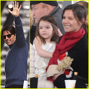 Suri Cruise Makes A Seville Train Stop