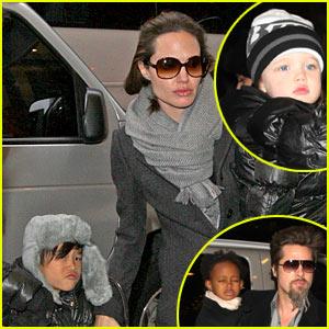 Brad Pitt & Angelina Jolie Hit Mary Poppins on Broadway -- VIDEO