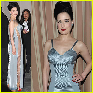 Dita Von Teese Channels Blonde Ambition-Era Madonna