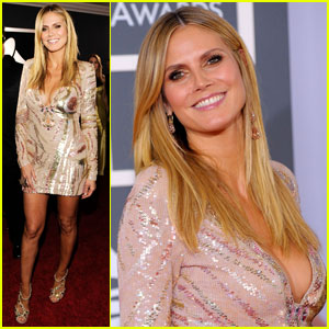 Heidi Klum - Grammys 2010 Red Carpet