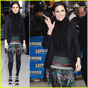 Jennifer Connelly: Balenciaga 4 Letterman