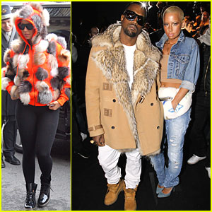 Kanye West & Amber Rose: Fashion Furballs!