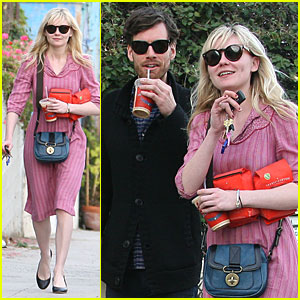 Kirsten Dunst: Coffee with Jason Boesel!