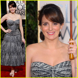 Tina Fey - Golden Globes 2010 Red Carpet