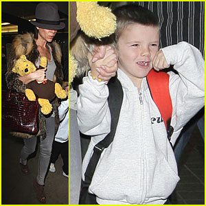 Victoria Beckham &#038; Her Boys are Bear-ly Awake