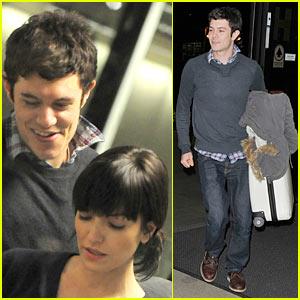 Adam Brody: LAX Airport with Lorene Scafaria
