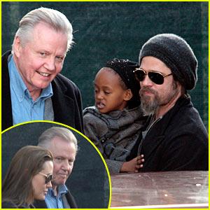 Angelina Jolie Reunites with Dad Jon Voight