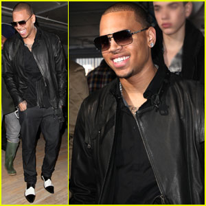 Chris Brown Buckles Down For Fashion Week
