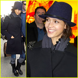 Jessica Alba Brings Valentine's Day to London