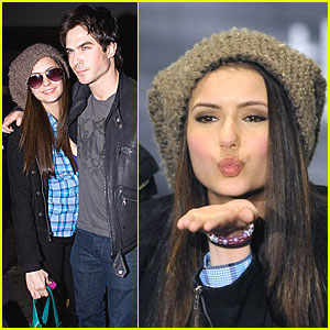 Nina Dobrev Blows a Kiss!