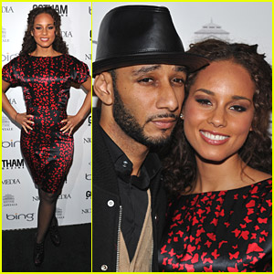 Alicia Keys Steps Out With Swizz Beatz