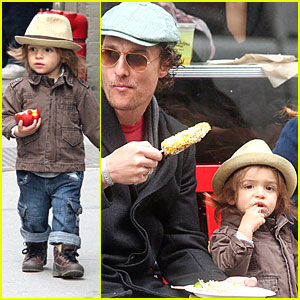 Levi McConaughey Takes A Bite Out of The Big Apple