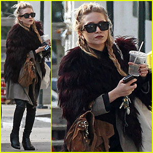 Mary Kate Olsen Has A Furry Friday