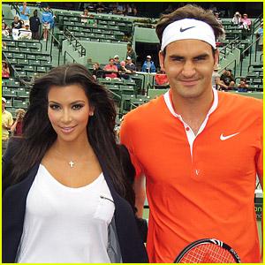 Roger Federer & Kim Kardashian: Coin Flip!