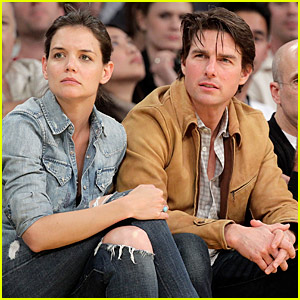 Tom Cruise & Katie Holmes: Lakers For The Win!