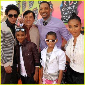 Will Smith & Family -- 2010 Kids' Choice Awards Orange Carpet