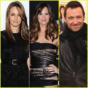 Hugh Jackman Butters Up With Jennifer Garner & Alicia Silverstone