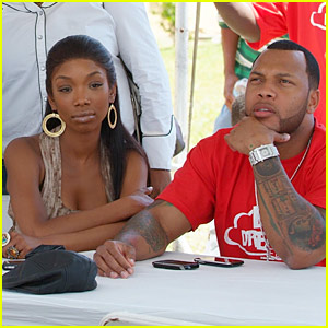 Brandy 'Definitely Interested' in Flo Rida