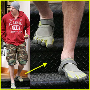 Channing Tatum Rocks Toe Sneakers