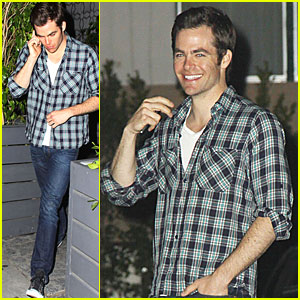 Chris Pine Makes It A Voyeur Night