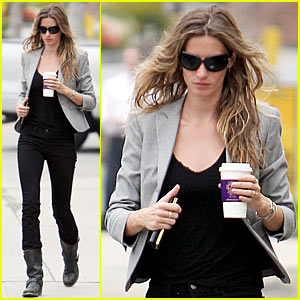 Gisele: Coffee Run in Bundchen Brentwood
