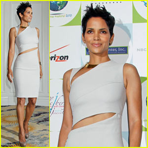Halle Berry: Silver Rose Gala Girl