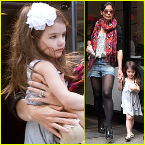 Katie Holmes & Suri Cruise: Easter Sunday at DanceBrazil!