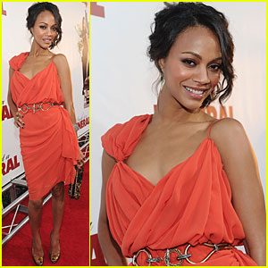 Zoe Saldana is Lovely in Lanvin