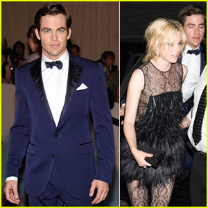Chris Pine: MET Ball with Elizabeth Banks!