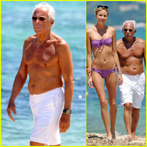 Giorgio Armani: Shirtless in St. Tropez!