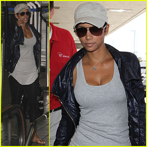 Halle Berry is Gorgeous in Grey