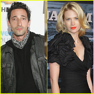 Adrien Brody & January Jones Get Close in NYC?
