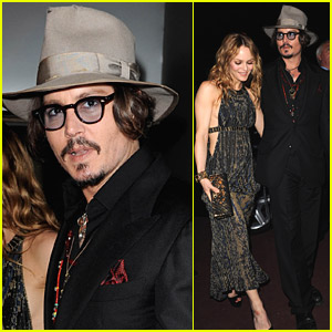 Johnny Depp & Vanessa Paradis: Chanel Party Pair