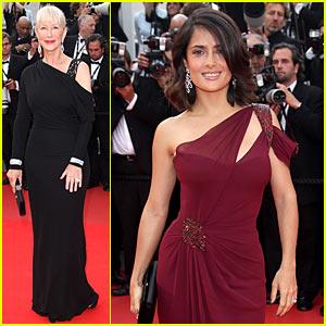 Salma Hayek & Helen Mirren Premiere 'Robin Hood'