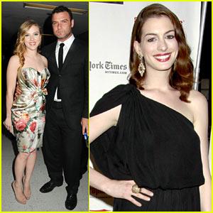 Scarlett Johansson: Drama Desk Awards with Anne Hathaway!