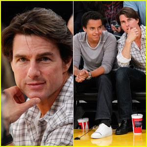 Tom Cruise & Connor Cruise Check Out The Lake Show